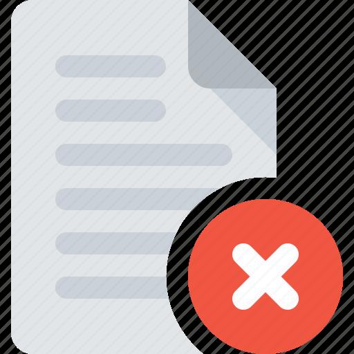 delete, document, file, remove icon