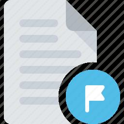 alert, document, file, flag icon