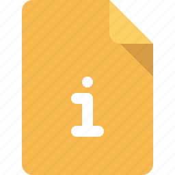 document, file, info, information icon