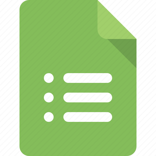 Document, file, list, type icon - Download on Iconfinder