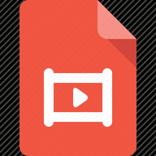 document, file, film, media, movie icon