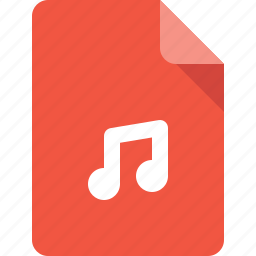 audio, document, file, media, music icon