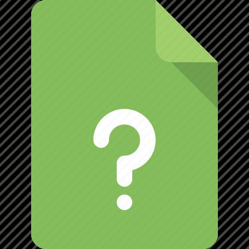 document, faq, file, question icon
