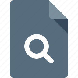 document, file, magnifier, search icon