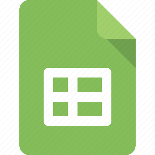 doc, document, excel, file, sheet, tab icon
