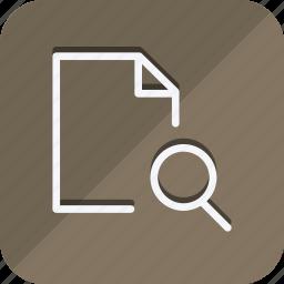 archive, data, document, file, folder, search, storage icon