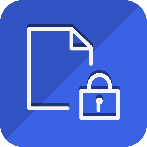 archive, data, document, file, folder, lock, storage icon