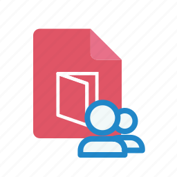 pdf, shared icon