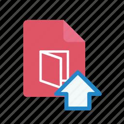 pdf, upload icon