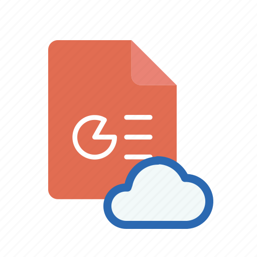 cloud, ppt icon