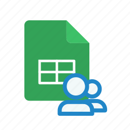 shared, spreadsheet icon