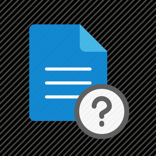 qmark, text icon