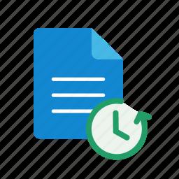 restore, text icon