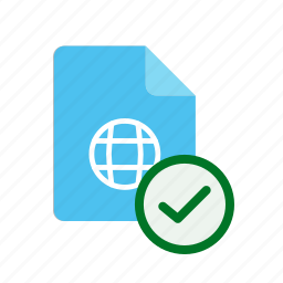 accept, webpage icon