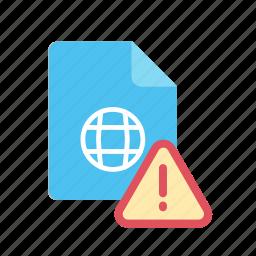 alert, webpage icon