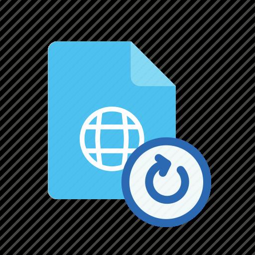 refresh, webpage icon