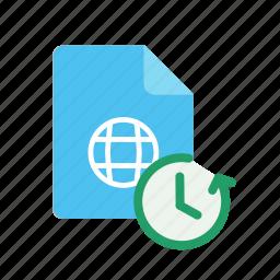 restore, webpage icon
