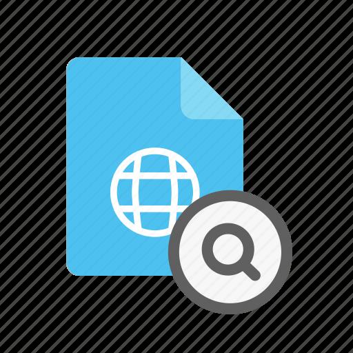 search, webpage icon