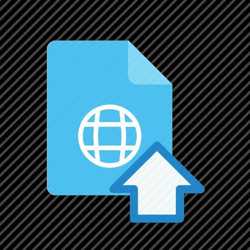 upload, webpage icon