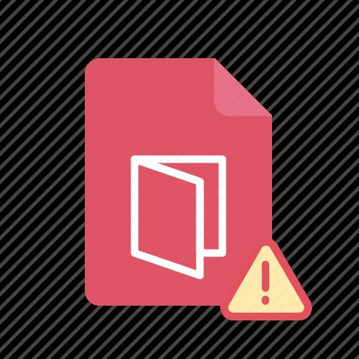 alert, pdf icon