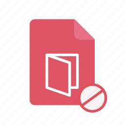 block, pdf icon