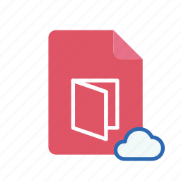 cloud, pdf icon