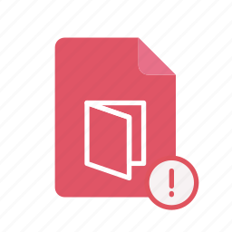 exclmark, pdf icon
