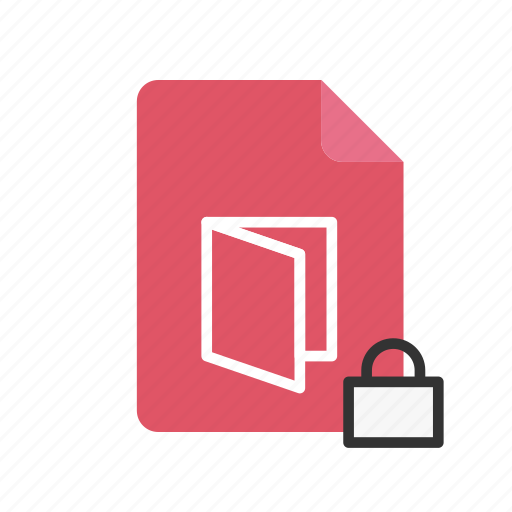 file, locked, pdf icon