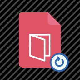 pdf, refresh icon