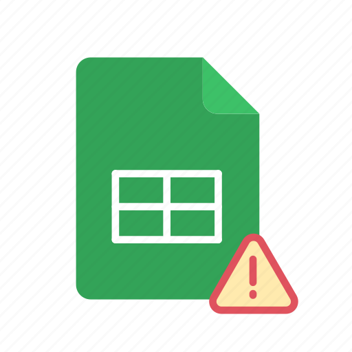 alert, spreadsheet icon