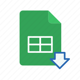download, spreadsheet icon