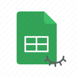 hidden, spreadsheet icon
