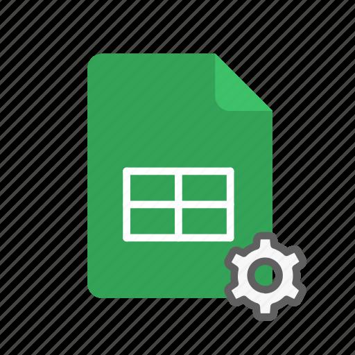 peremeters, spreadsheet icon