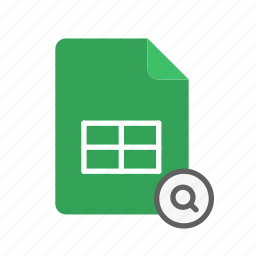 search, spreadsheet icon
