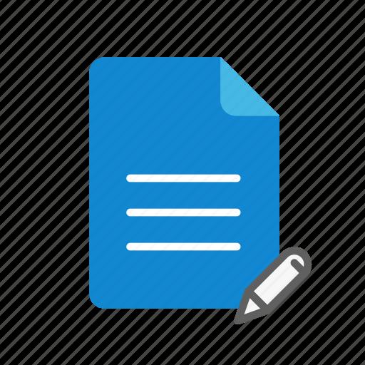 edit, text icon