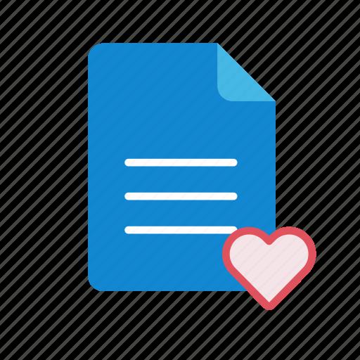 favorite, text icon