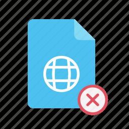 close, webpage icon
