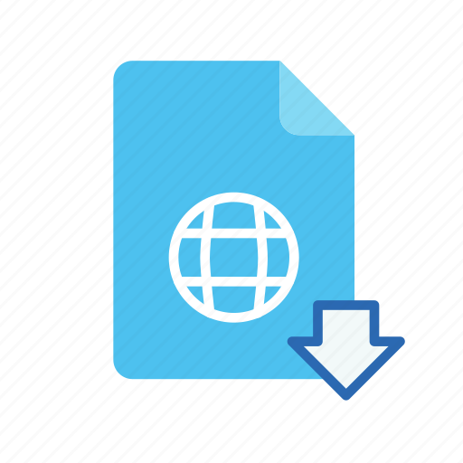 download, webpage icon