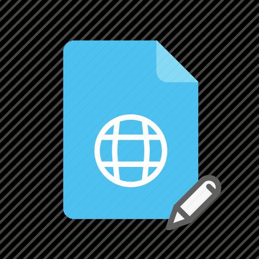 edit, webpage icon