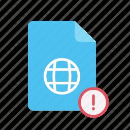 exclmark, webpage icon