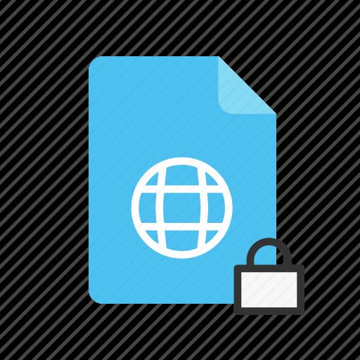 locked, webpage icon