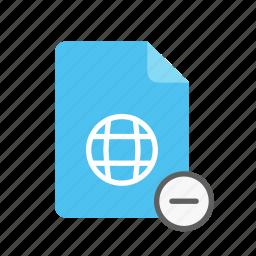 remove, webpage icon