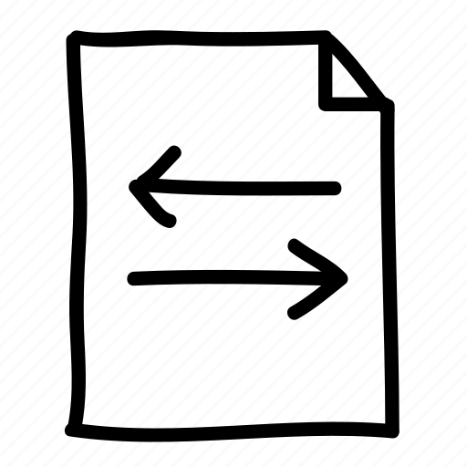 documents, file, files, handdrawn, pages, sheets, transfer icon