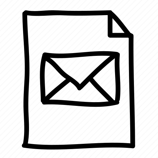 documents, files, handdrawn, mail, message, pages, sheets icon