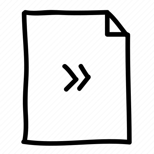 documents, file, files, forward, handdrawn, pages, sheets icon