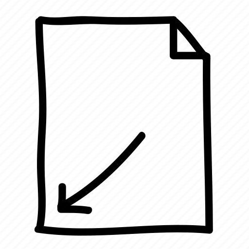 arrow, documents, file, files, handdrawn, pages, sheets icon