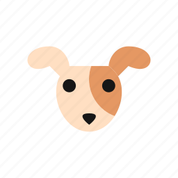 animal, cartoon, cute, dog, emoji, pet, puppy icon