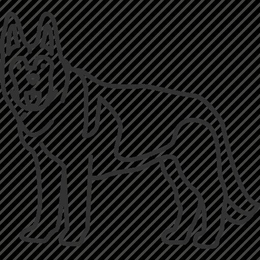 German, shepherd, k9, police, dog icon - Download on Iconfinder