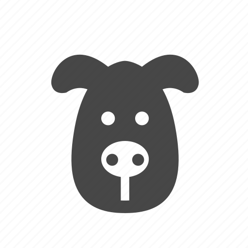 animal, dog, face, pet i icon