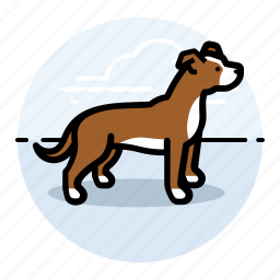 b, dog, dogs, pet, pit icon